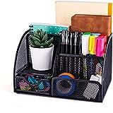 New Office Storage Einfache Haushaltswaren Mesh Desk Organizer mit Schiebeschublade, Fünf Fächern und Aufrechten Abschnitten, Platzsparende Funktionalität (schwarz)