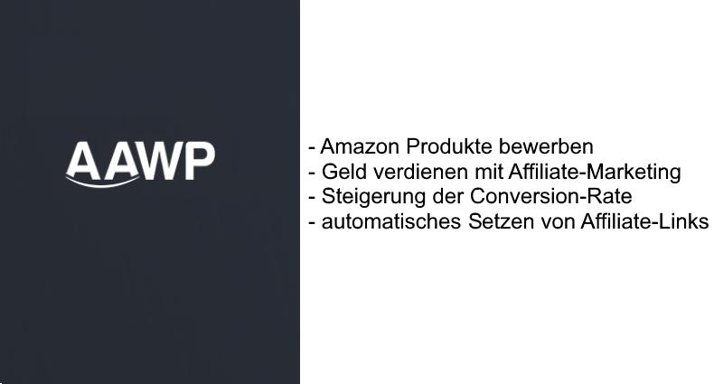 Mit dem AAWP-Plugin Amazon-Produkte bewerben und mit Affiliate-Marketing Geld verdienen
