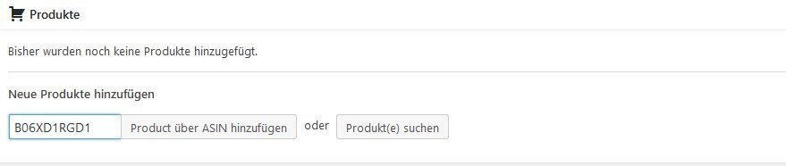 Amazon Affiliate for WordPress - Produkte hinzügen in den Vergleichstabellen