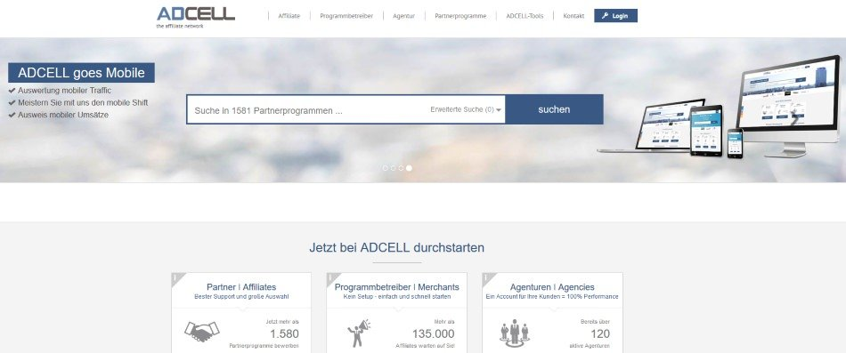 Affiliate-Marketing mit AdCell