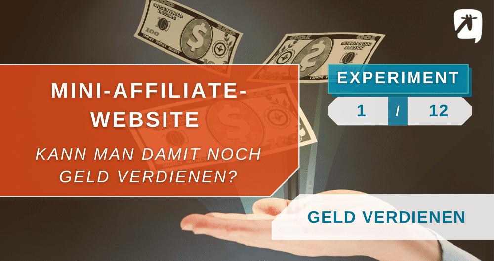 Affiliate-Website: Geld verdienen mit einer Nischenseite