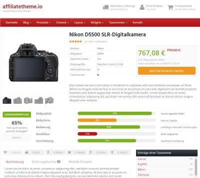 Nischenseite: Affilitheme.io - Premium WordPress Theme