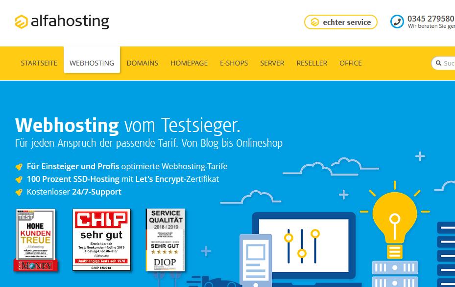 Alfahosting - Die besten Webhosting - Anbieter