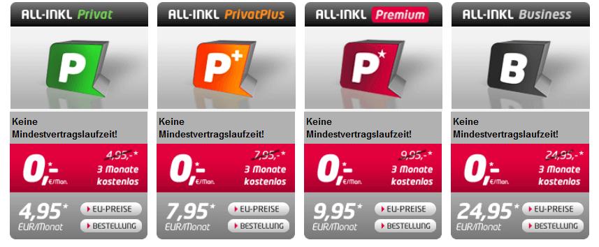 All-Inkl Preise - Die besten Webhosting - Anbieter