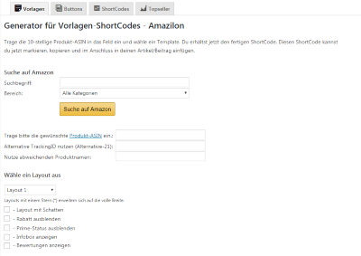 Amazilon - Amazon Affiliate-Plugin