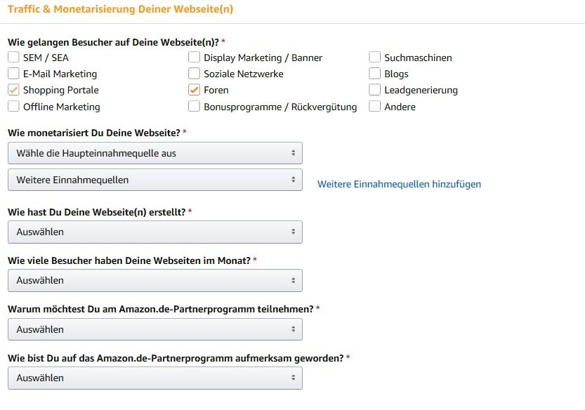 Amazon PartnerNet - Traffic & Monetarisierung