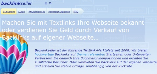 Mit Backlinkseller Textlinks kaufen und verkaufen