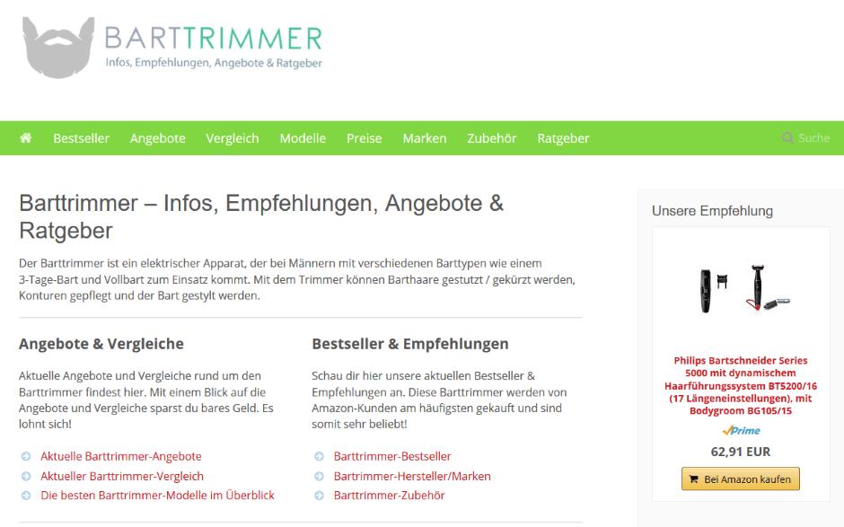 Nischenseiten-Challenge 2018 - Barttrimmer24.net