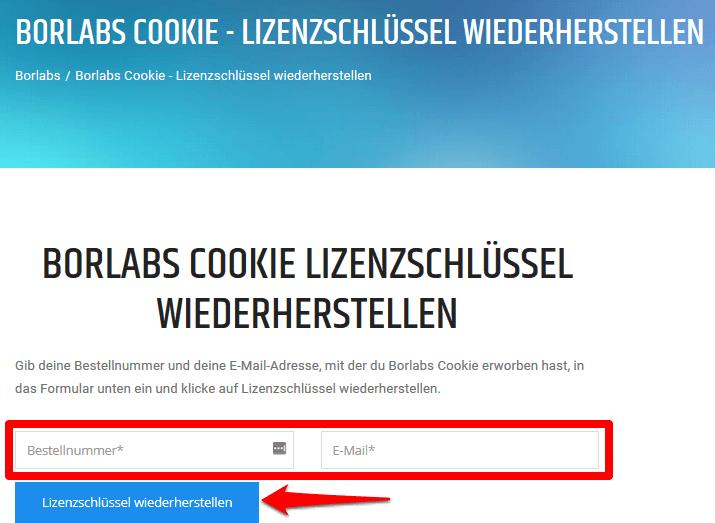 Borlabs Cookie 1.9 - Lizenzschlüssel (anfordern)