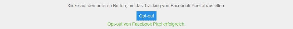 Facebook-Pixel Cookie - Opt-Out: Shortcode Button Borlabs Cookie