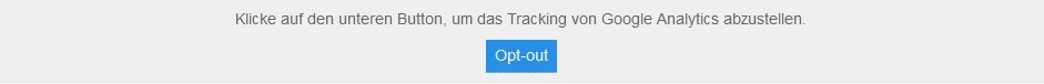 Google Analytics Cookie - Opt-Out: Shortcode Button Borlabs Cookie