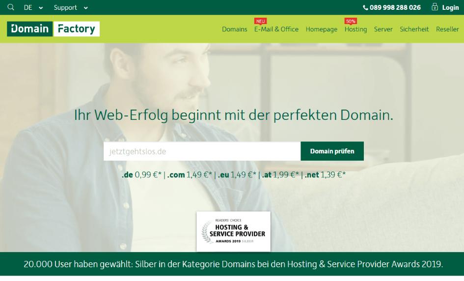 DomainFactory - Die besten Webhosting - Anbieter