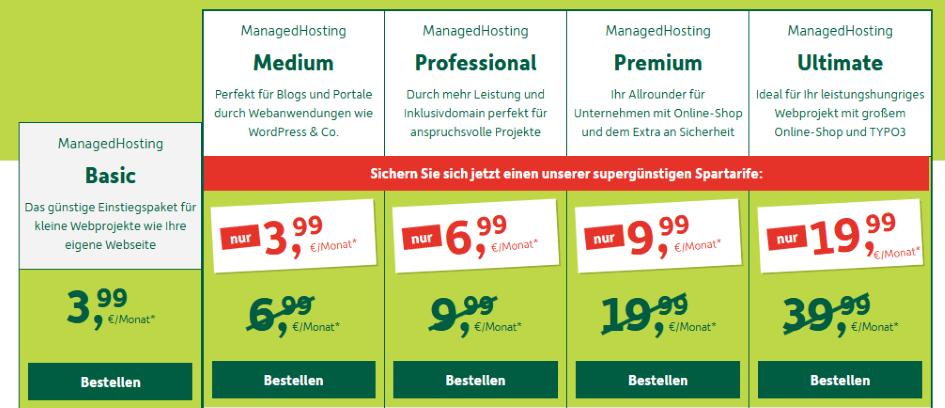 DomainFactory Preise - Die besten Webhosting - Anbieter
