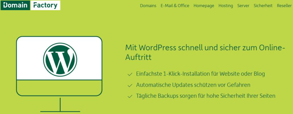 DomainFactory: WordPress selbst hosten