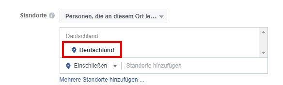 Facebook Fake-Likes: Standort