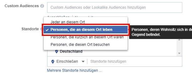 Facebook Fake-Likes: Standorte