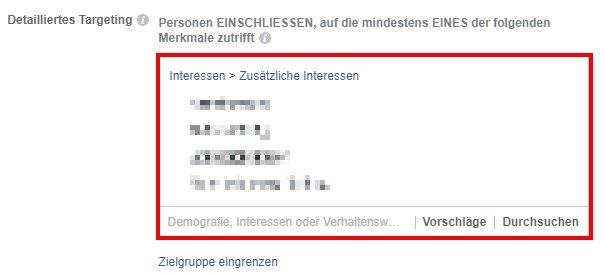 Facebook Fake-Likes: Zielgruppen-Auswahl