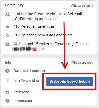 Facebook Fake-Likes: Seite hevorheben