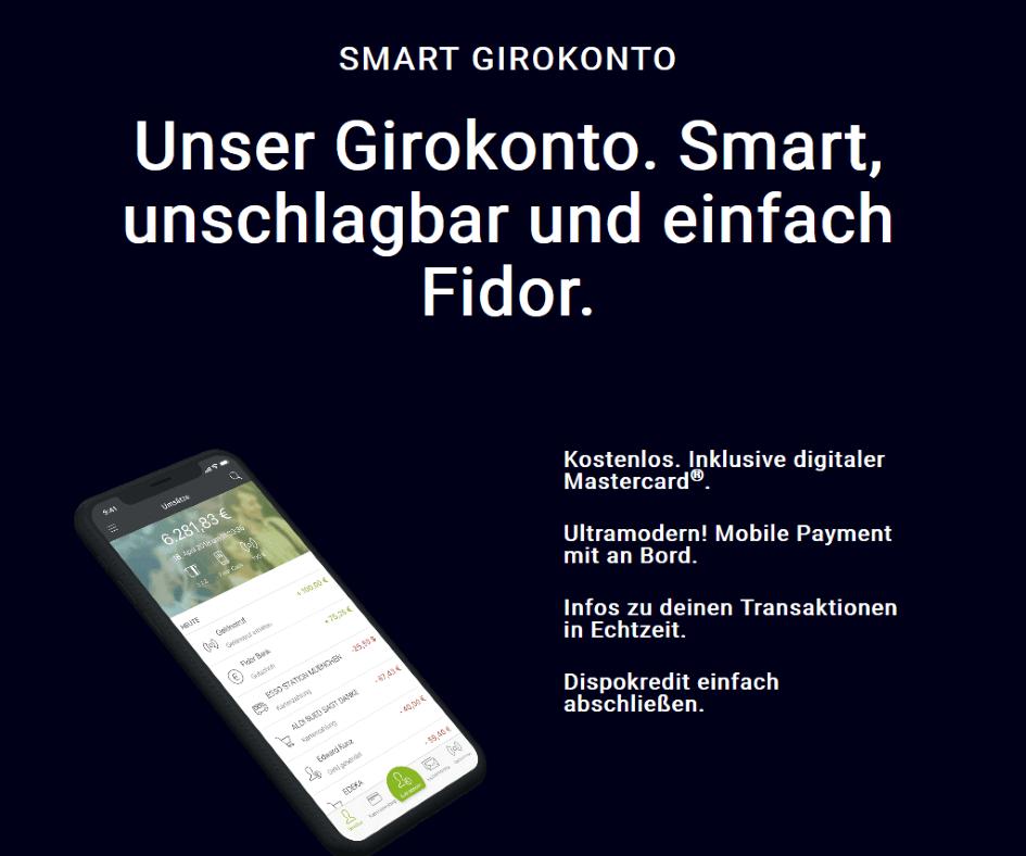 Fidor Bank - Die besten Geschäftskonten