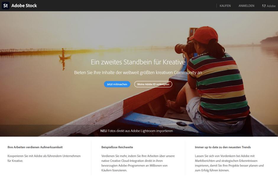 Adobe Stock: Fotos online verkaufen