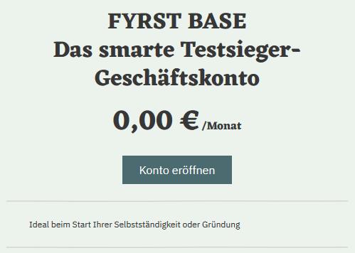 FYRST Geschäftskonto BASE