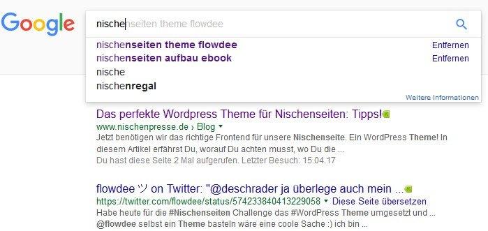 Google Suggest Nische - NSC Optimierung & Vermarktung Teil 1