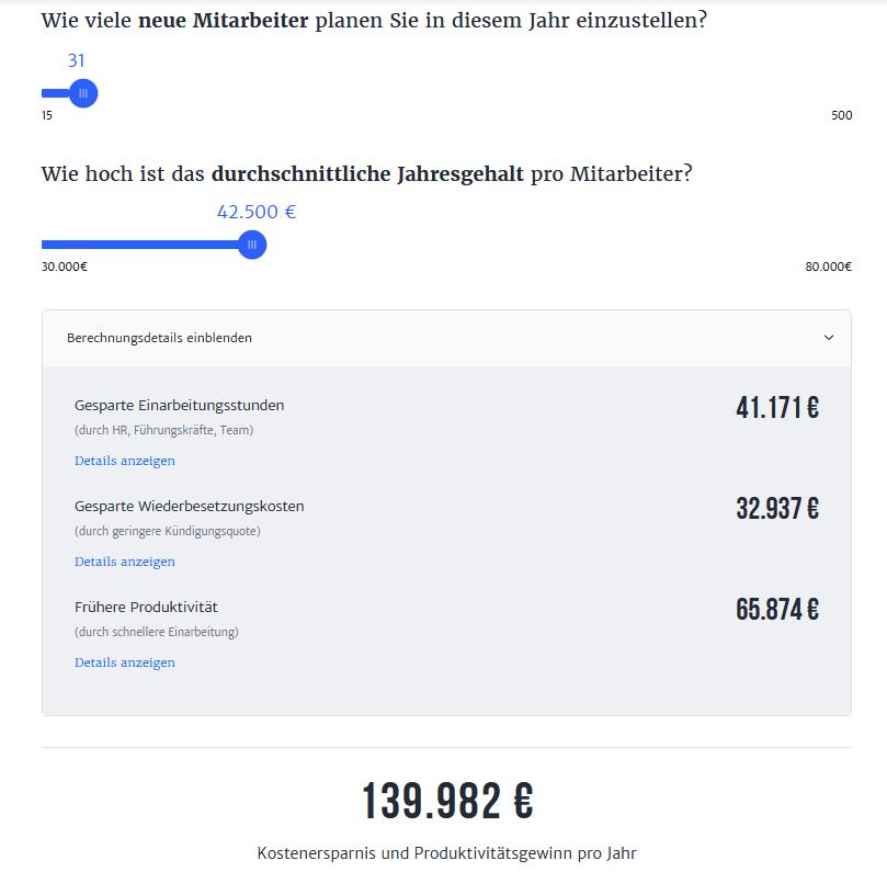 Haufe Onboarding-Tool Kosten-Rechner (myonboarding.de)