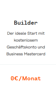 Holvi: Geschäftskonto BUILDER