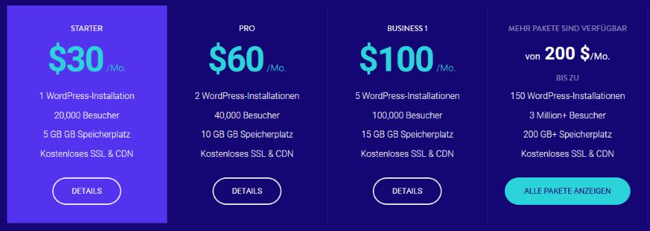 Kinsta Preise - Die besten Webhosting - Anbieter