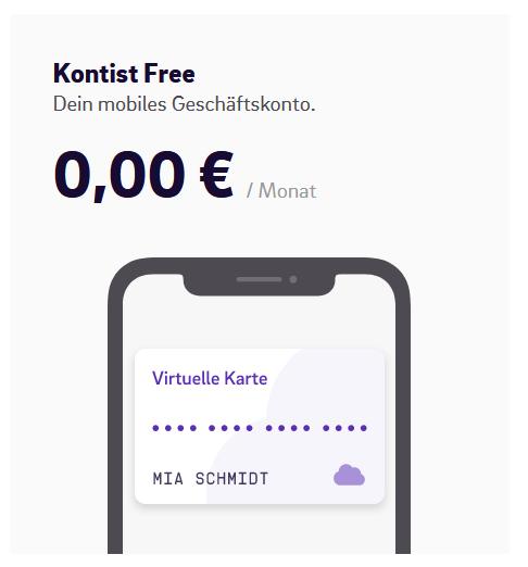 Kontist Geschäftskonto Free und Premium- Review