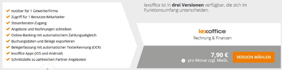 lexoffice: Rechnung & Finanzen