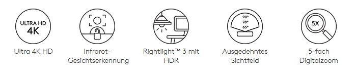 Logitech BRIO 4K Ultra HD Funktionen