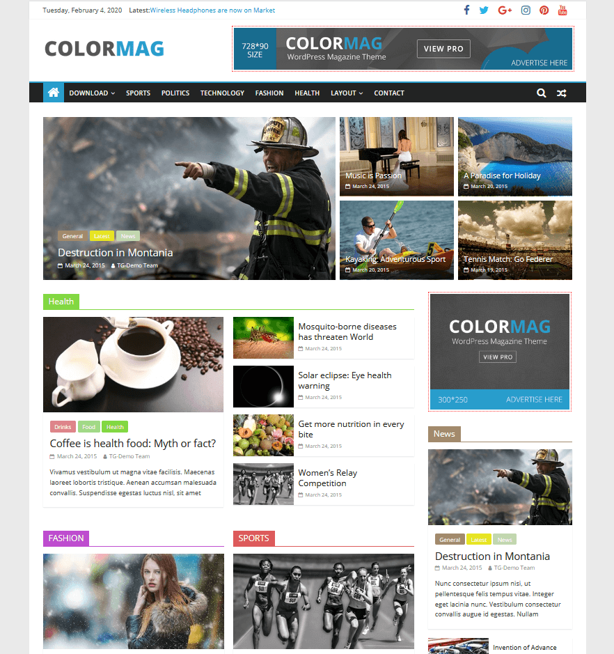 ColorMag - Magazin Theme