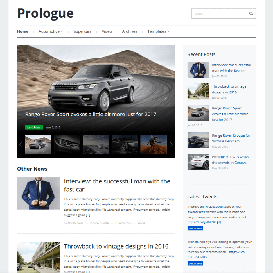 Prologue - Magazin Theme
