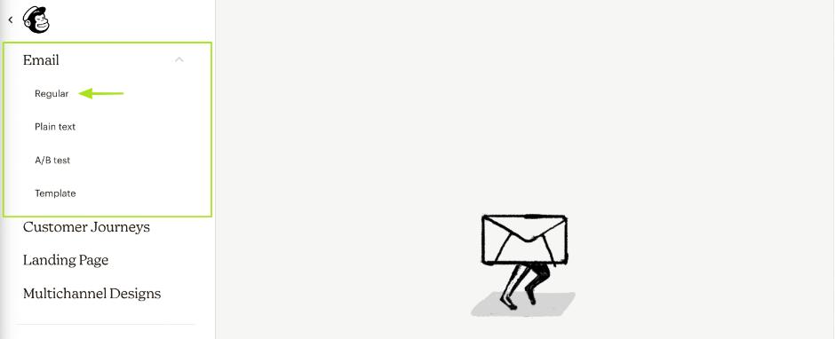 Mailchimp Newsletter erstellen: Regulär