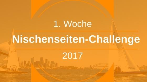 Nischenseiten-Challenge 2017 – Start & Woche 1: Nische finden und analysieren