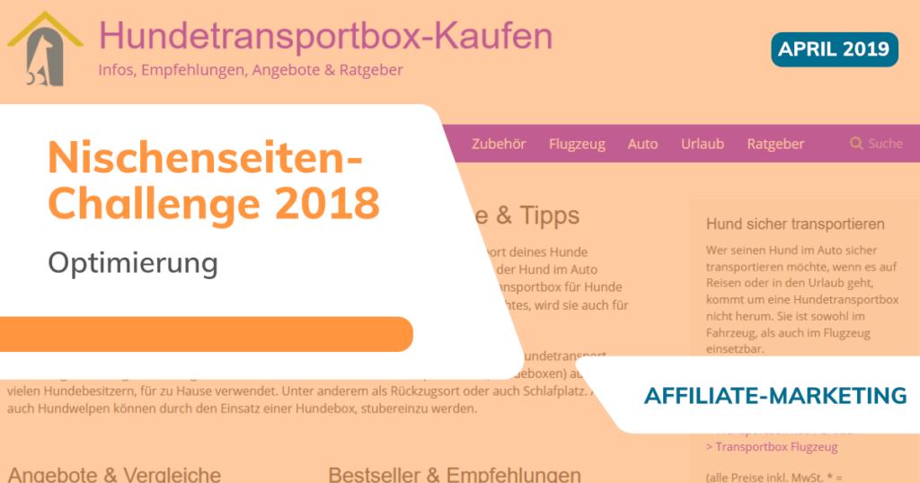 Nischenseiten-Challenge 2018 - April - Optimierung