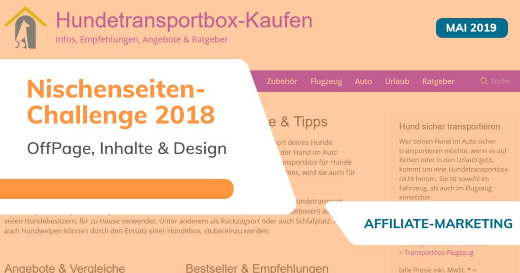 Nischenseiten-Challenge 2018 - OffPage, Inhalte & Design