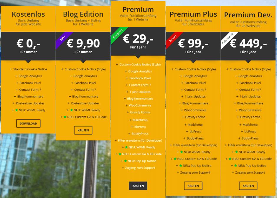WP DSGVO Tool - Preise