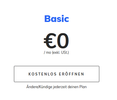 Penta Geschäftskonto - BASIC