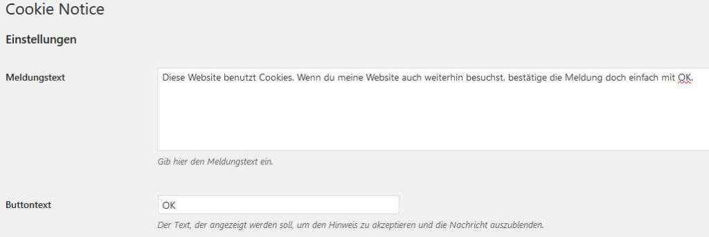 Plugin Cookie Notice - Nischenseiten-Challenge Optimierung & Vermarktung Teil 2
