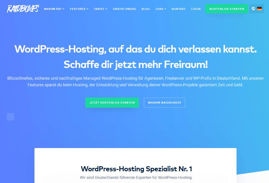 Raidboxes - Die besten Webhosting - Anbieter