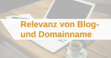 Relevanz von Blognamen und Domainnamen