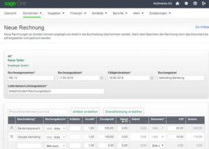 sage One online Buchhaltungssoftware