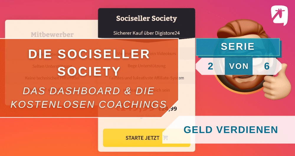 Sociseller Society: Dashboard & Coachings