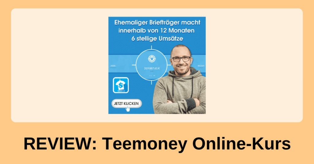 Teemoney: Geld verdienen mit T-Shirts im Internet