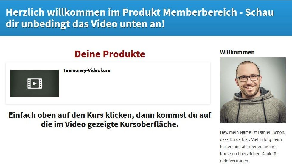Teemoney Video-Kurs - Geld verdienen mit T-Shirts