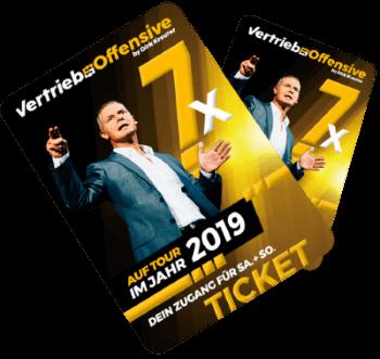 Tickets für die Vertriebsoffensive 2019 von Dirk Kreuter