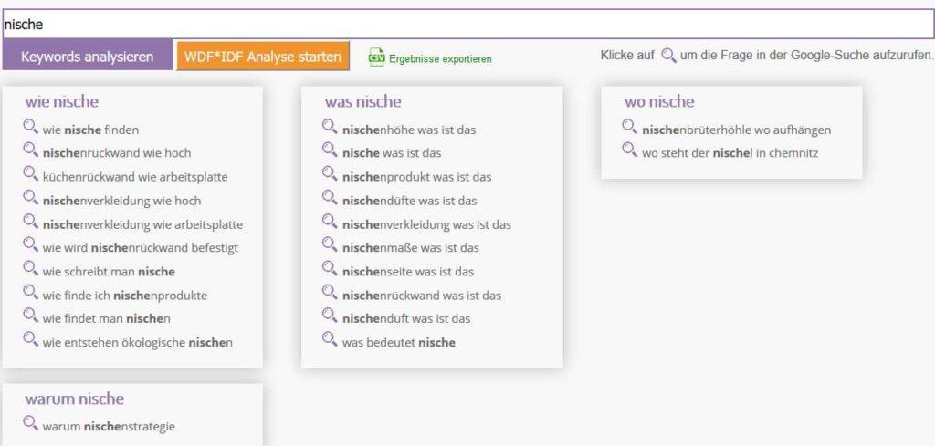 W-Fragen-Tool - NSC Optimierung & Vermarktung Teil 1
